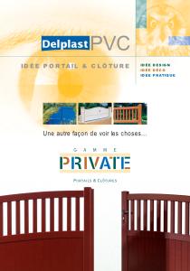 DELPLAST PORTAILS PVC PRIVATE PAGE DE COUV