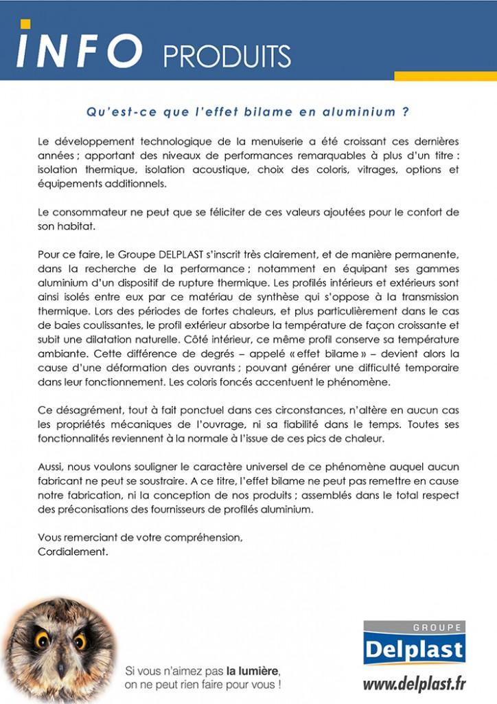 GROUPE DELPLAST INFO PRODUITS CONSOMMATEURS EFFET BILAME mai 2017